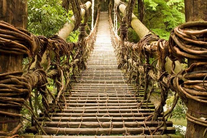 پل ژاپن ۱۰ پل که عبور از آنها لرزه به اندامتان میاندازد ۱۰ پل که عبور از آنها لرزه به اندامتان میاندازد Musou Tsuribashi bridge Japan3