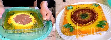 ژله گلدار آموزش ژله تزریقی مدل گل آفتابگردان آموزش ژله تزریقی مدل گل آفتابگردان jello tazrighi model aftabgardoon 91