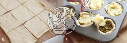 تارت گوشت مینی تارت گوشت و سیب زمینی مینی تارت گوشت و سیب زمینی mini tart gosht sabzijat 31