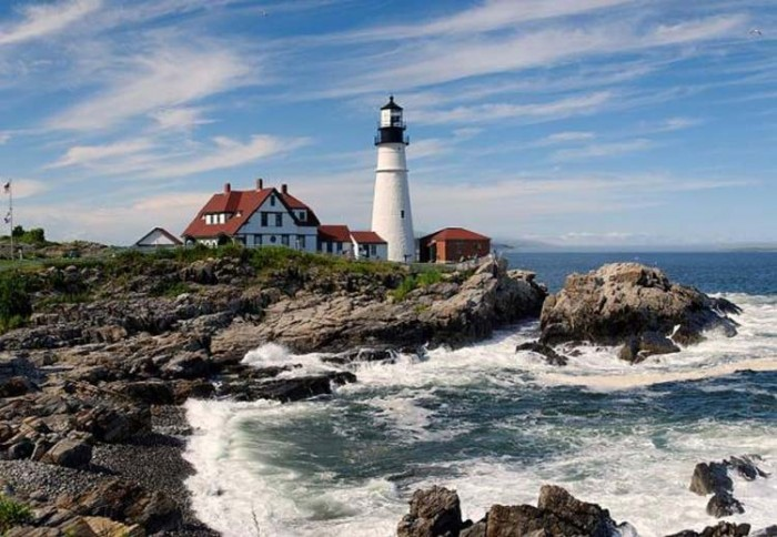 فانوس دریایی Maine ۱۰ فانوس دریایی زیبای جهان ۱۰ فانوس دریایی زیبای جهان portland head light