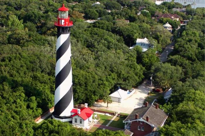 فانوس دریایی فلوریدا ۱۰ فانوس دریایی زیبای جهان ۱۰ فانوس دریایی زیبای جهان the st augustine light