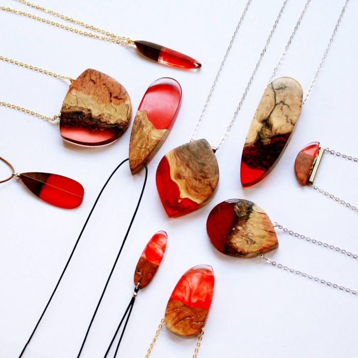 wood-jewelry-resin-boldb-britta-boeckmann-17 تبدیل چوب های قدیمی به جواهرات زیبا تبدیل چوب های قدیمی به جواهرات زیبا wood jewelry resin boldb britta boeckmann 17