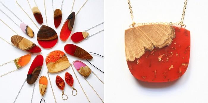 wood-jewelry-resin-boldb-britta-boeckmann-20 تبدیل چوب های قدیمی به جواهرات زیبا تبدیل چوب های قدیمی به جواهرات زیبا wood jewelry resin boldb britta boeckmann 20